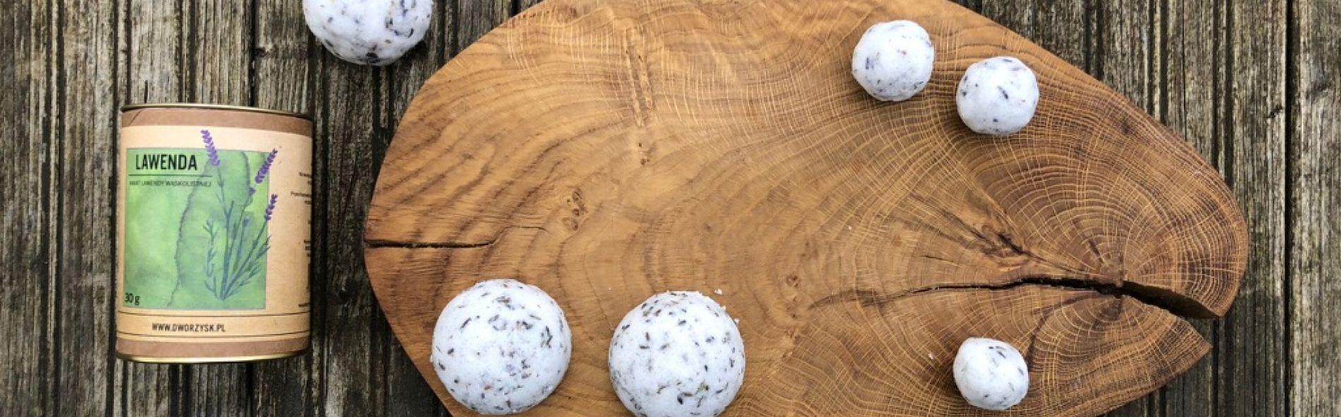 lawendowe kule kąpielowe
